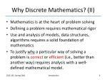 why discrete mathematics ii