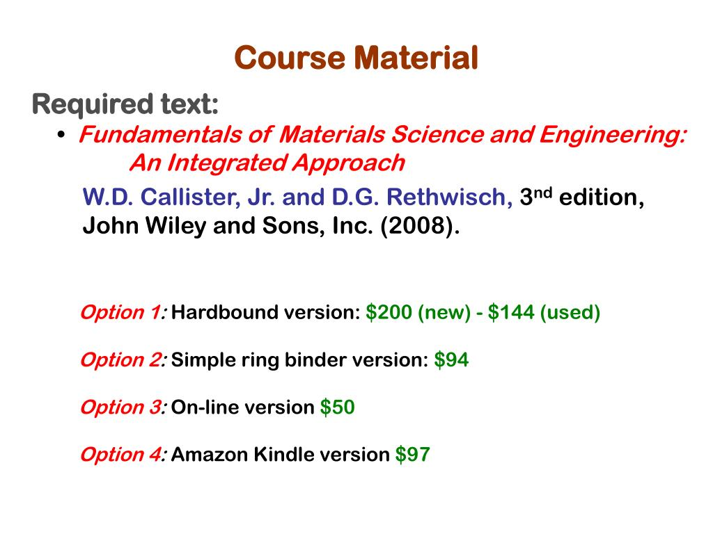 PPT - MAT 033: Engineering Materials and Processes PowerPoint