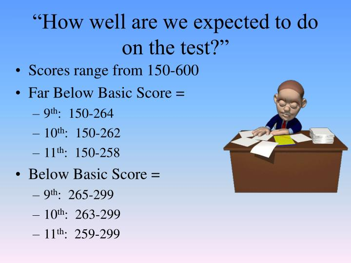 """""""How well are we expected to do on the test?"""""""