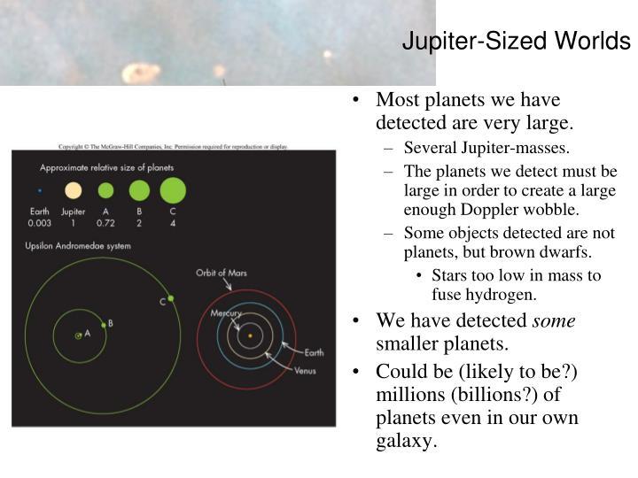 Jupiter-Sized Worlds