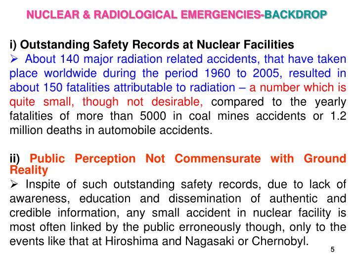NUCLEAR & RADIOLOGICAL EMERGENCIES-