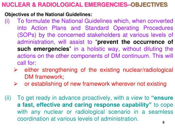 NUCLEAR & RADIOLOGICAL EMERGENCIES–