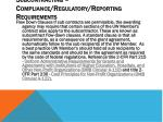 subcontracting compliance regulatory reporting requirements
