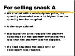 for selling snack a