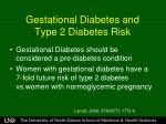 gestational diabetes and type 2 diabetes risk