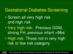 gestational diabetes screening