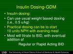 insulin dosing gdm
