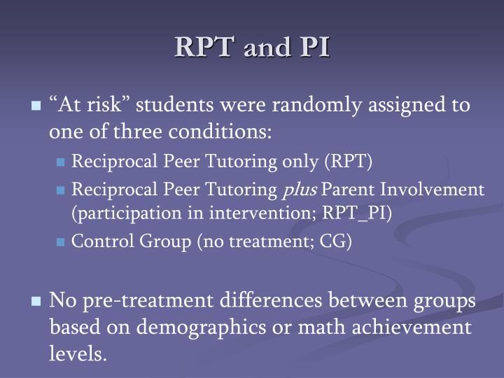 RPT and PI