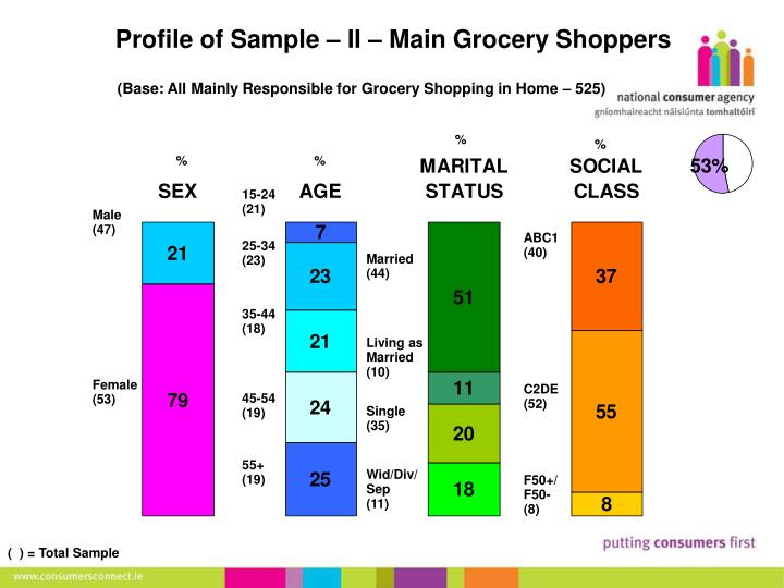 Profile of Sample – II – Main Grocery Shoppers