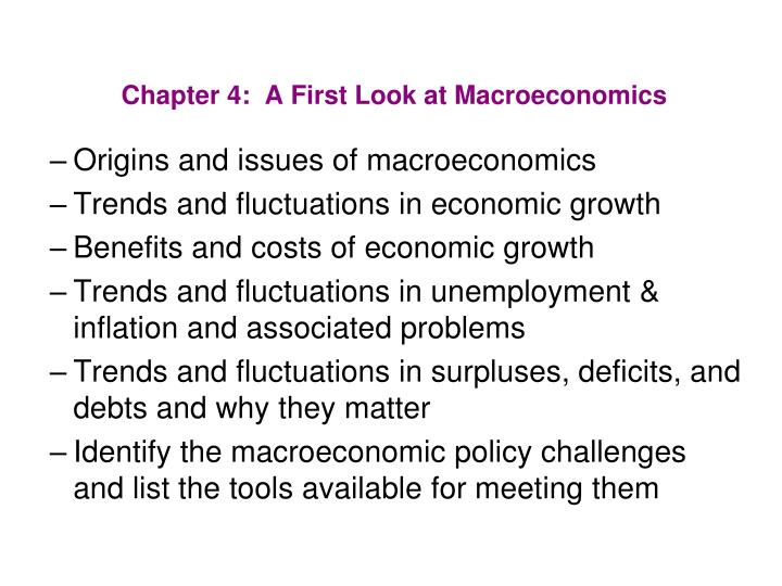 chapter 4 a first look at macroeconomics n.
