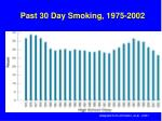 past 30 day smoking 1975 2002