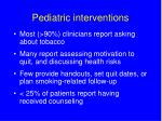 pediatric interventions