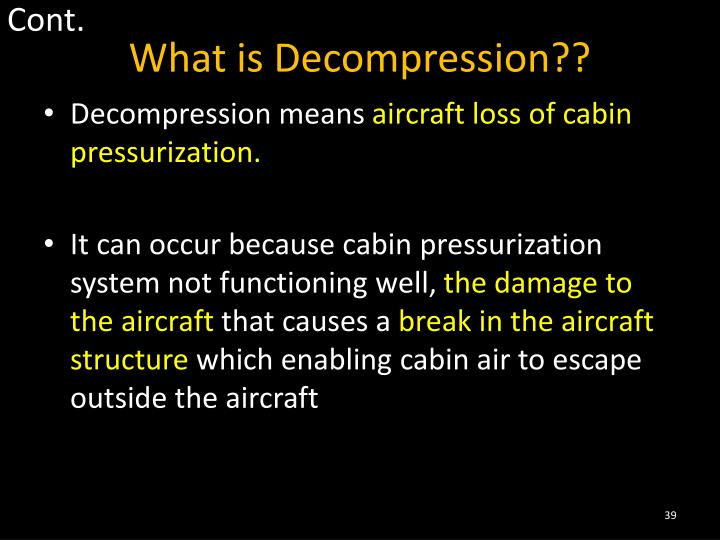 loss of cabin pressure