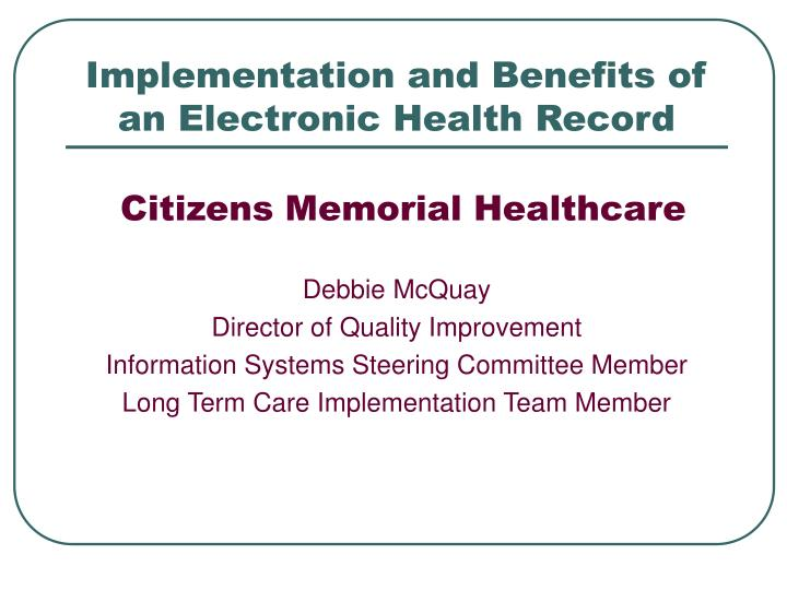 information system failure memorial health system case Both hospitals and hospital patients are bearing a massive cost as a result of the occurrence of medication prescribing errors in the public health system (bates, d, et al j am med inform.