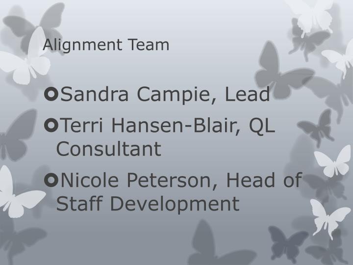 Alignment team