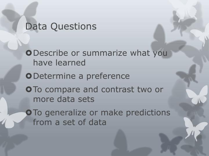 Data Questions
