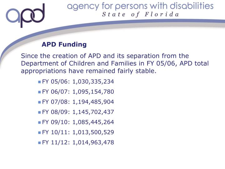 Apd funding