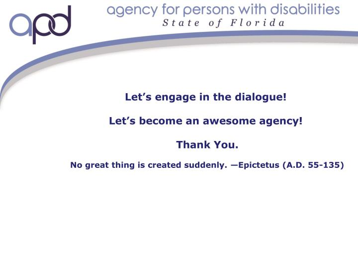 Let's engage in the dialogue!