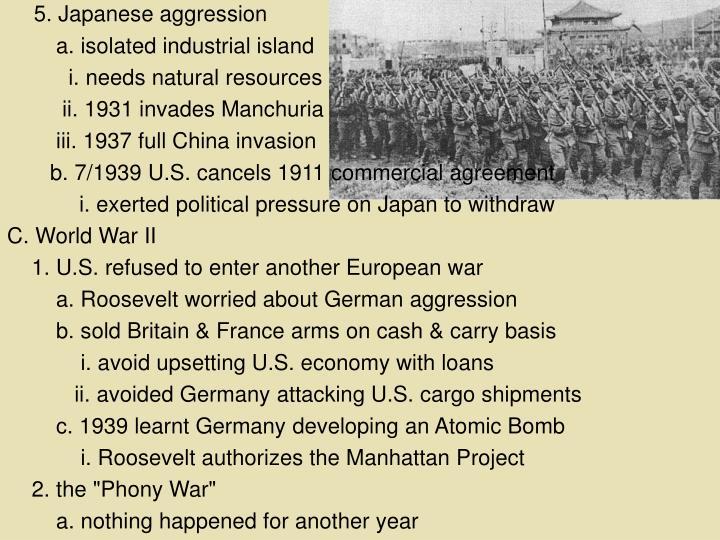 5. Japanese aggression