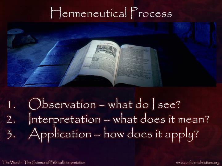 Hermeneutical Process