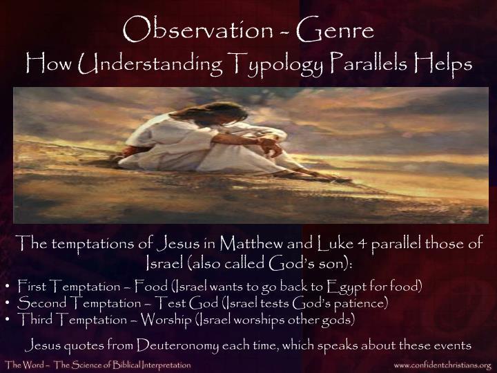 Observation - Genre