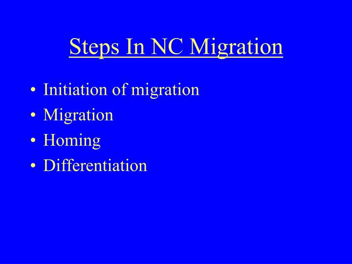 Steps In NC Migration