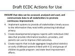 draft ecdc actions for use1