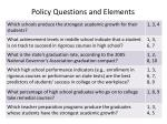 policy questions and elements