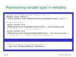 representing variable types in metadata