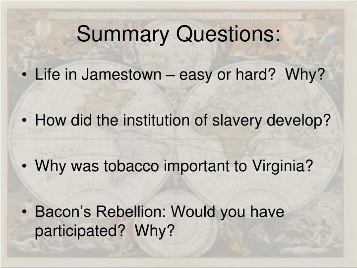 Summary Questions:
