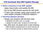 cpu overhead new bgp update message