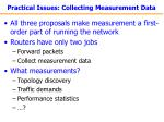 practical issues collecting measurement data