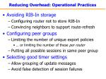 reducing overhead operational practices