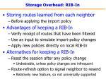 storage overhead rib in