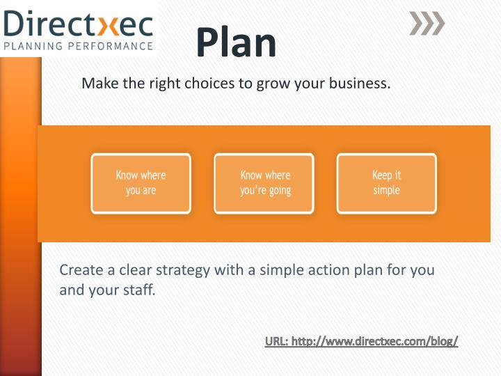 Plan make the right choices to grow your business