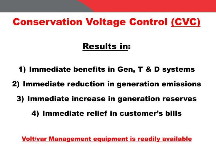 Conservation Voltage Control