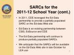 sarcs for the 2011 12 school year cont2