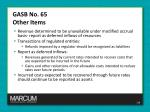 gasb no 65 other items