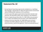 statement no 621