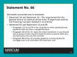 statement no 66