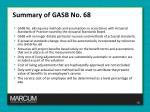 summary of gasb no 682