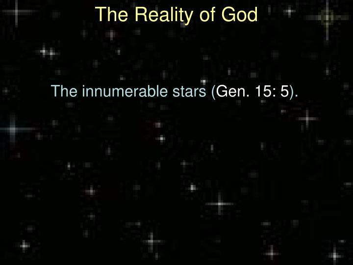 The reality of god1