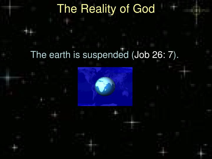 The reality of god2