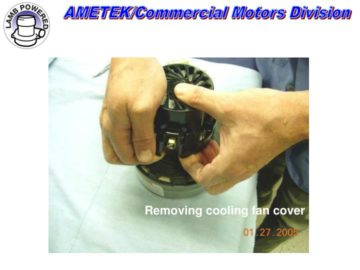 Removing cooling fan cover