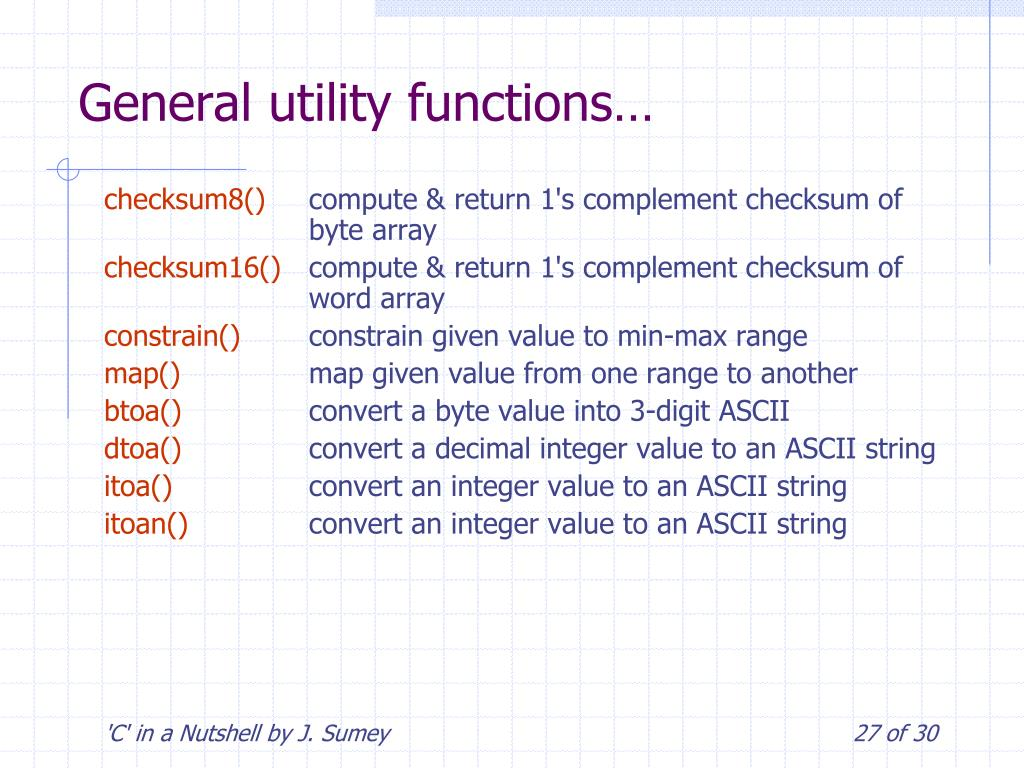 PPT - 'C' in a Nutshell PowerPoint Presentation - ID:6531366