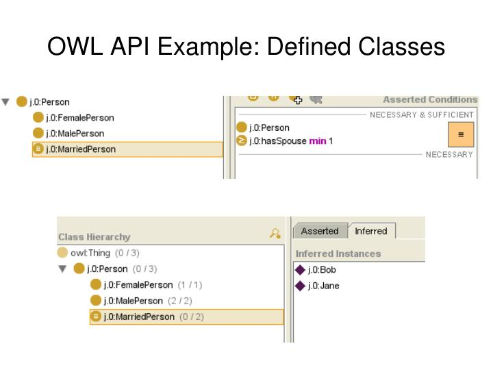OWL API Example: Defined Classes