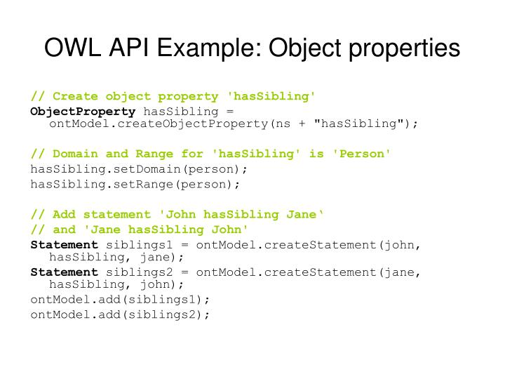 OWL API Example: Object properties