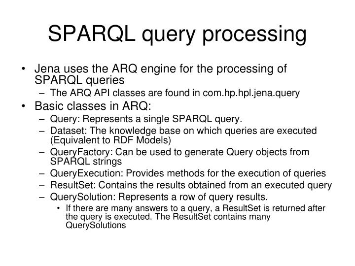 SPARQL query processing
