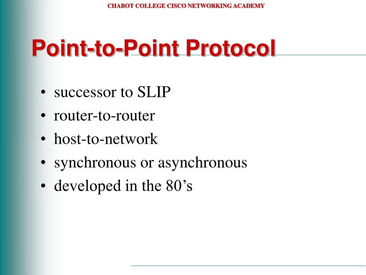 Point to point protocol1