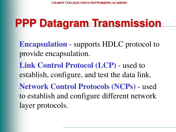 PPP Datagram Transmission